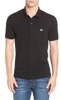 Lacoste Men's 'White Croc' Regular Fit Pique Polo
