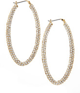 Fragments for Neiman Marcus Pave Oval Hoop Earrings, Clear
