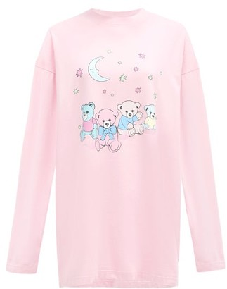 Balenciaga Love Bear-print Cotton-jersey T-shirt - Pink