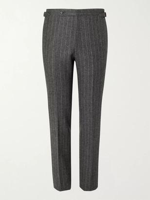 Husbands Delon Slim-Fit Pinstriped Wool Suit Trousers