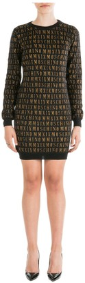 Moschino All Over Logo Sweater Dress