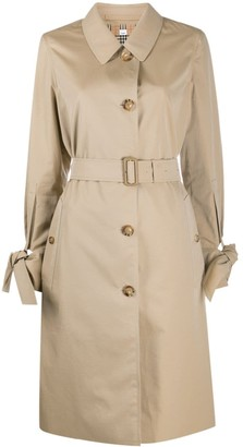 Burberry Bow-Detail Sleeve Trench Coat