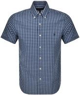 Ralph Lauren Short Sleeved Checked Shirt Blue