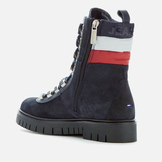 Tommy Jeans Women's Padded Nylon Lace Up Boots