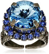 "Sorrelli Electric Blue"" Round Cut Cocktail Ring, Size 7-9"