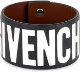 Givenchy Logo leather bracelet