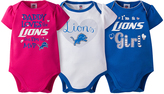 Gerber Detroit Lions Pink Short-Sleeve Bodysuit Set - Infant