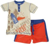 Masala Street Play 2 Piece Set (Baby) - Beige/Orange/Blue-6-12 Months