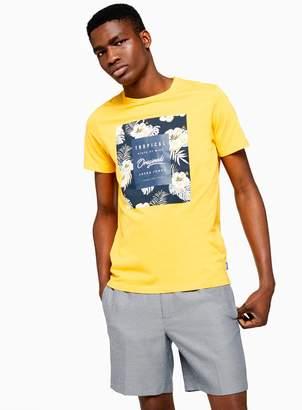 Jack and Jones TopmanTopman Yellow Photo Print T-Shirt