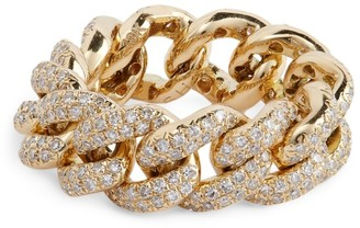 Shay Yellow Gold and Diamond Essentials Jumbo Pave Ring