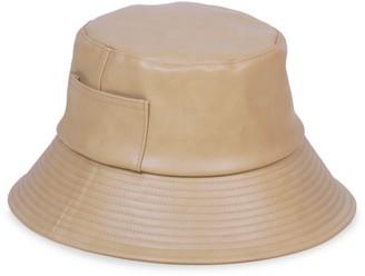 LACK OF COLOR Wave Faux-Leather Bucket Hat