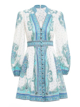 Zimmermann Bells Paisley Short Dress