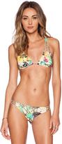 San Lorenzo Braided Strap Reversible Hipster Bikini Top