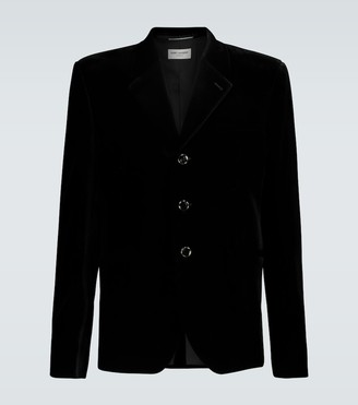 Saint Laurent Single-breasted corduroy blazer