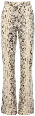 ZEYNEP ARCAY Snake Print Leather Cigarette Pants