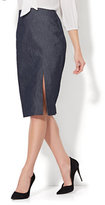 New York & Co. 7th Avenue - Front Slit Pencil Skirt - Modern - Grand Sapphire