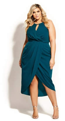 City Chic Love Story Dress - turquoise