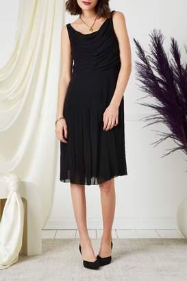 Chanel 2000s Black Pleated Dress