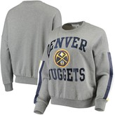 G Iii Women's G-III 4Her by Carl Banks Gray Denver Nuggets Slouchy Rookie French Terry Pullover Sweatshirt