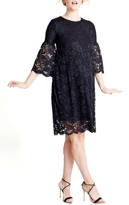Ingrid & Isabel Lace Bell Sleeve Maternity Dress