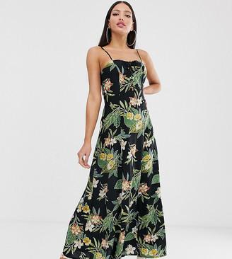 Asos DESIGN Tall cami maxi dress in tropical print