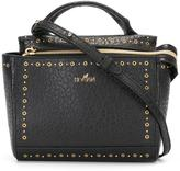 Hogan studded zipped tote