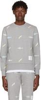 Thom Browne Grey Shark & Surfboard Pullover