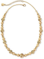 JCPenney MONET JEWELRY Monet Gold-Tone Beaded Collar Necklace