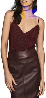 Reiss Claudia Metallic Strappy Top