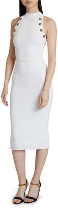 Balmain Diamond-Knit Midi Dress
