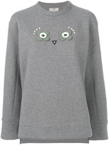 Fendi Owl appliqué jumper - women - Cotton/Polyester - 40