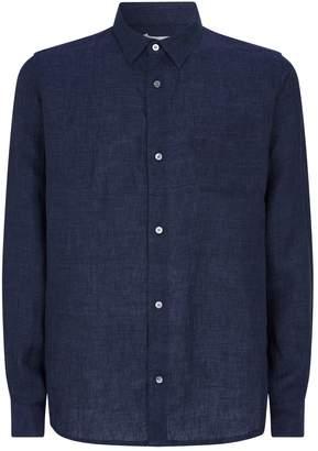 Derek Rose Linen Pyjama Shirt