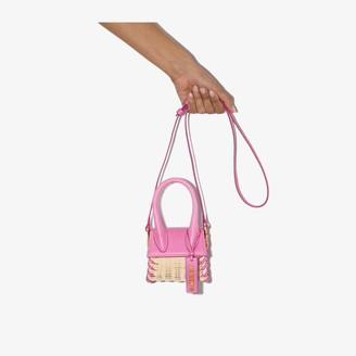 Jacquemus pink Le Chiquito wicker mini bag