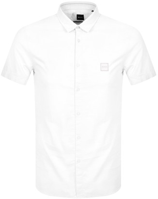 BOSS Magneton Slim Short Sleeved Shirt White