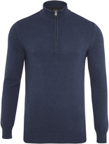 Oxford Robert Zip Collar Pullover Nvy X