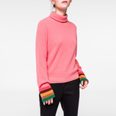 Paul Smith Women's Pink Cashmere Roll-Neck Sweater