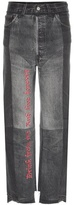 Vetements Embroidered Cotton Jeans