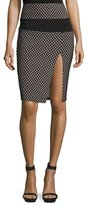 KENDALL + KYLIE Sporty Diamond-Pattern Mesh-inset Pencil Skirt