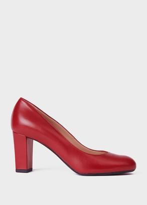 Hobbs Sonia Leather Block Heel Court Shoes