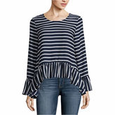 A.N.A a.n.a Long Sleeve Crew Neck Woven Blouse-Talls