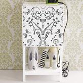Lace Pattern Bath Cabinet