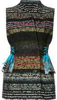 Tome 'Striped Tweed Laced Tailored' vest