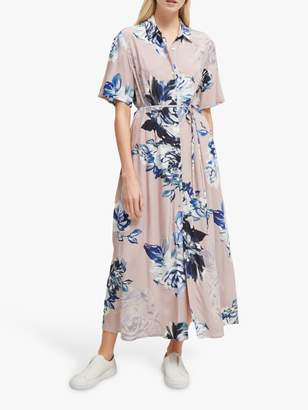 French Connection Floral Shirt Dress, Pink Multi