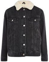 Petite oversized borg jacket