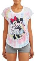 Disney Mickey & Minnie Women's and Women's Plus Short Sleeve Sleep T-Shirt