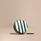 Burberry Pyjama Stripe London Leather Coin Case, Green