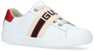Gucci Kids New Ace Elastic Strap Sneakers