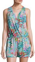 BCBGMAXAZRIA Women's Jungle Print Romper