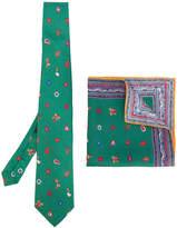 Etro printed tie and handkerchief set