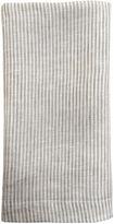 One Kings Lane Vintage Khaki & White Linen Table Napkin